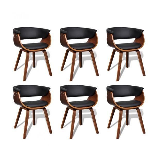 Superbe lot de 6 chaises de salle manger en cuir for Chaise de salle a manger en cuir