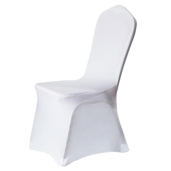 couvertures de chaise spandex extensible pour h tel marriage f te blanc achat vente housse. Black Bedroom Furniture Sets. Home Design Ideas