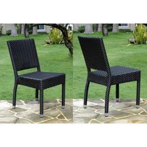 chaise de jardin en r sine tress e achat vente chaise fauteuil jardin chaise de jardin. Black Bedroom Furniture Sets. Home Design Ideas