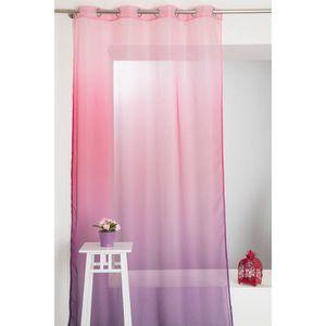 voilage violet achat vente voilage violet pas cher. Black Bedroom Furniture Sets. Home Design Ideas