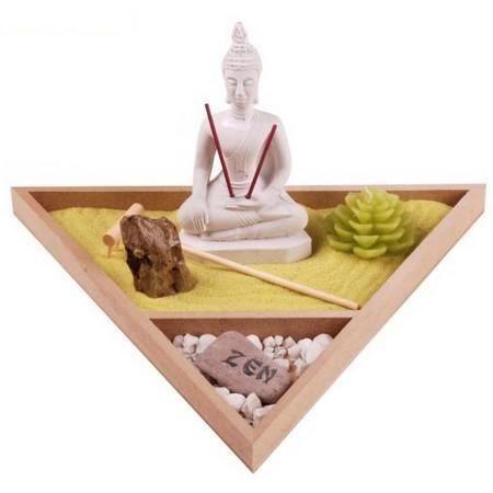Jardin zen bouddha 3 achat vente pack objet de deco c ramique cdiscount for Decoration jardin bouddha