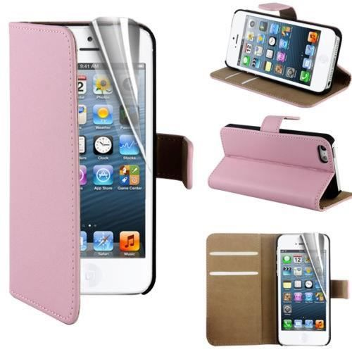 coque portefeuille iphone 5 5s rose pale etui housse. Black Bedroom Furniture Sets. Home Design Ideas