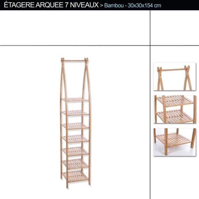 Etag re arqu e 7 niveaux bambou achat vente colonne armoire sdb etag re arqu e 7 niveaux - Maison maligne ...