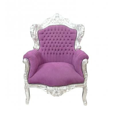 fauteuil baroque achat vente fauteuil tissu velours bois cdiscount