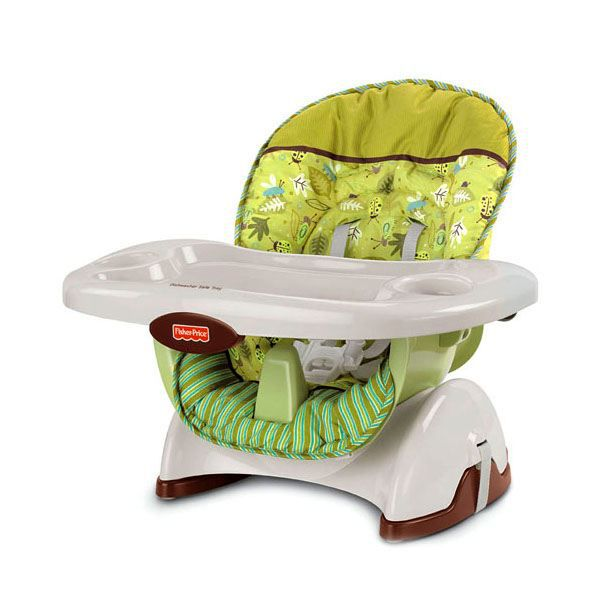 Fisher price si ge haut blanc et vert achat vente for Chaise haute fisher price