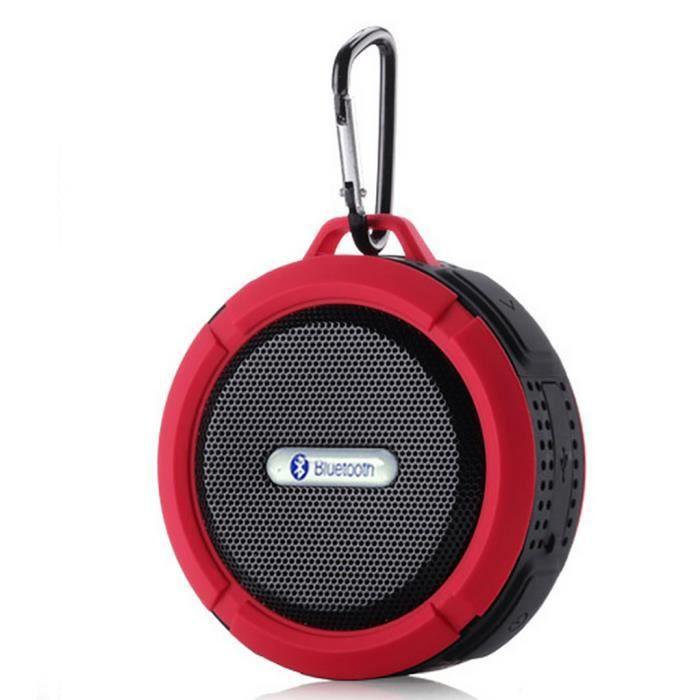 mp power rouge mini enceinte portable sans fil bluetooth etanche haut parleur compatible avec. Black Bedroom Furniture Sets. Home Design Ideas