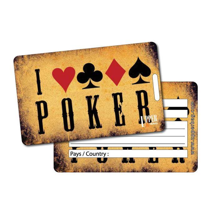 Etiquette bagage poker 1 achat vente porte adresse for 1 porte etiquette de voyage