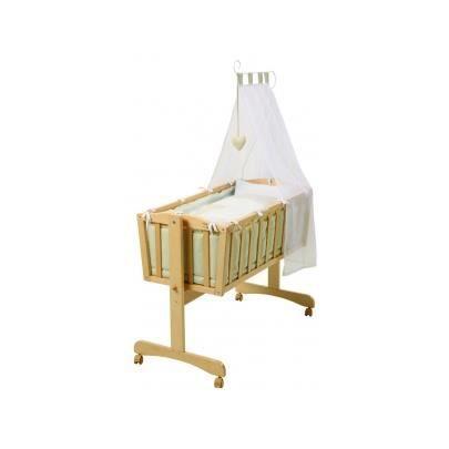 berceau en bois avec parure ariel 90x40 cm col achat. Black Bedroom Furniture Sets. Home Design Ideas