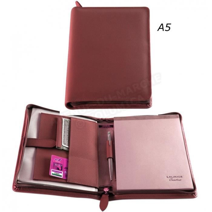 Conf rencier porte document a5 cuir rouge bordeaux achat vente conf rencier 3700839767385 for Achat porte interieur bordeaux