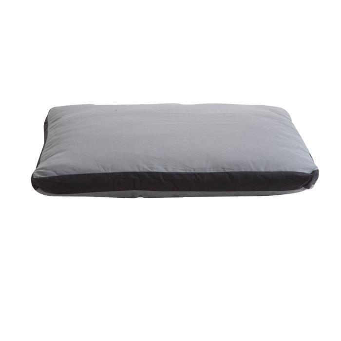 coussin bicolore d houssable noir et gris 63x53cm achat. Black Bedroom Furniture Sets. Home Design Ideas