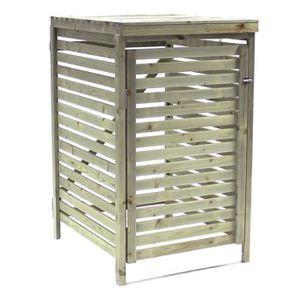 cache poubelle bois achat vente cache poubelle bois pas cher soldes cdiscount. Black Bedroom Furniture Sets. Home Design Ideas