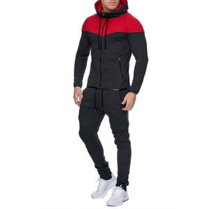 SURVÊTEMENT DE SPORT Survêtement capuche homme gris bande rouge