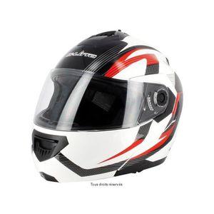 Casque moto avec visiere solaire achat vente casque for Accessoire deco rouge