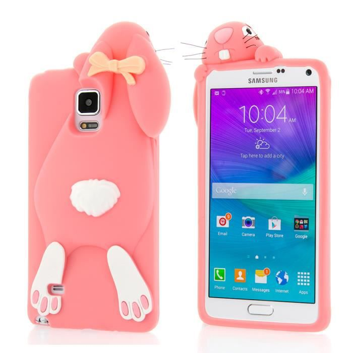 Pour samsung galaxy note 4 n9100 dreamshop 3d mignon for Housse galaxy note 4