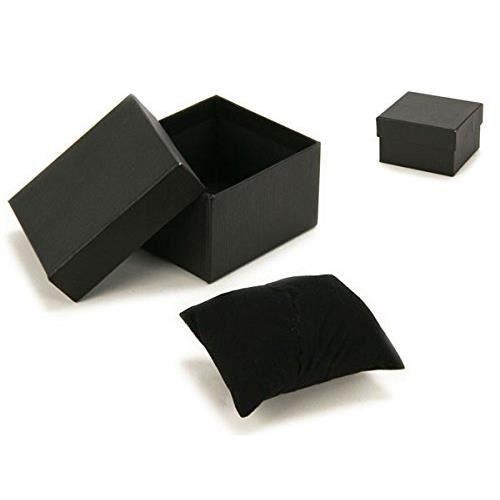 ecrin boite cadeau pour montre avec coussin noir achat. Black Bedroom Furniture Sets. Home Design Ideas