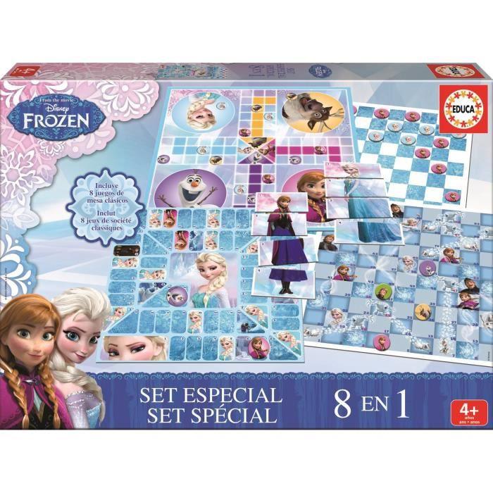 La reine des neiges jeux de soci t jeu 8 en 1 achat vente jeu soci t plateau cdiscount - Jeux gratuit la reine des neige ...