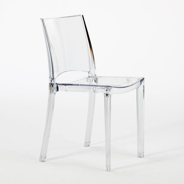 4 chaises transparentes id ales pour restaurants cuisine for Soldes chaises transparentes