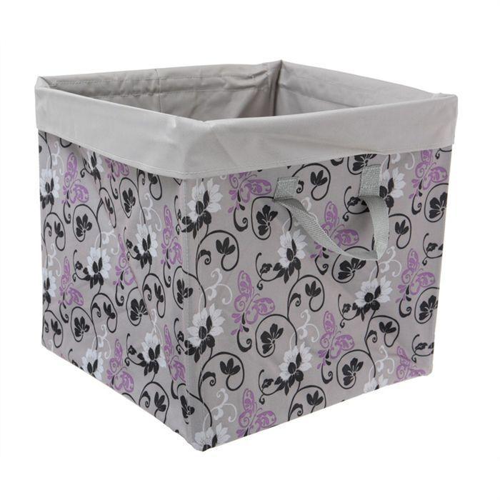 panier pliant tissu achat vente boite de rangement cdiscount. Black Bedroom Furniture Sets. Home Design Ideas