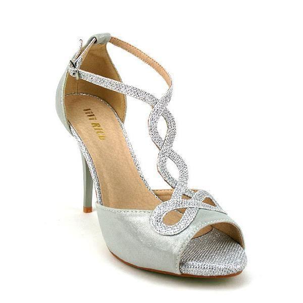 escarpins argent chaussures femme achat vente. Black Bedroom Furniture Sets. Home Design Ideas