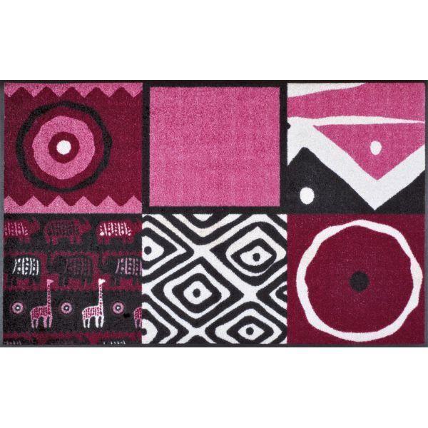 Tapis Design Afrikana Pink 75 X 120 Achat Vente Paillasson Cadeaux De No L Cdiscount