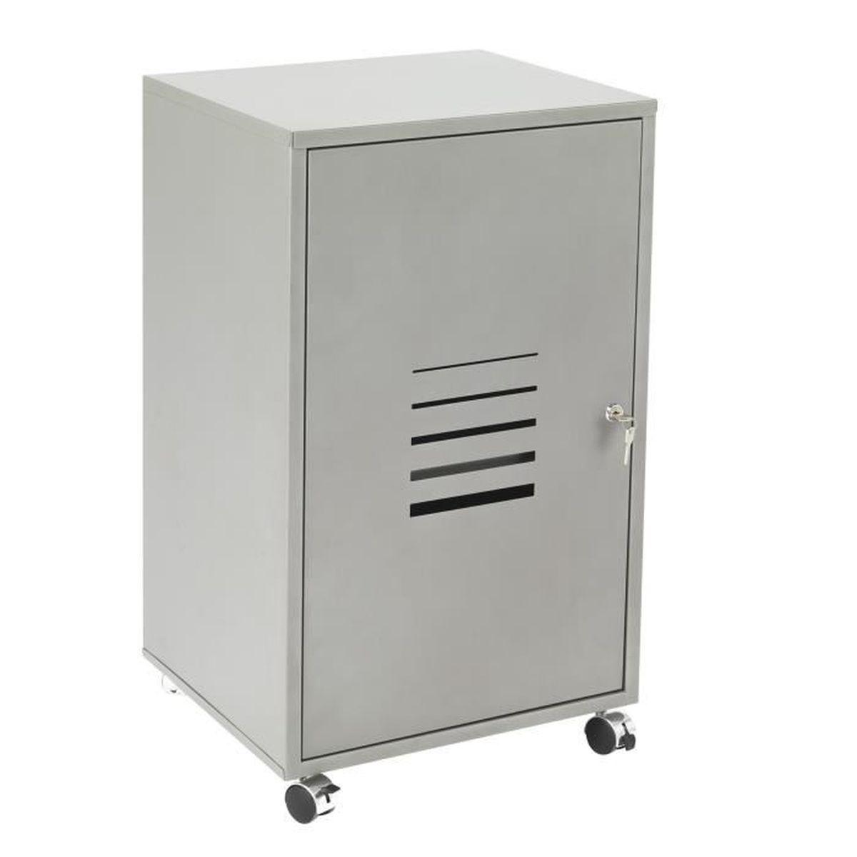 poppy caisson roulettes en acier gris achat vente caisson de bureau poppy caisson. Black Bedroom Furniture Sets. Home Design Ideas