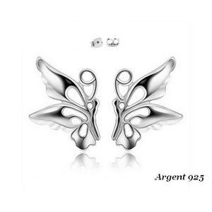 Boucle d'oreille Boucles d'oreille Puces Papillon Enfant Argent 925