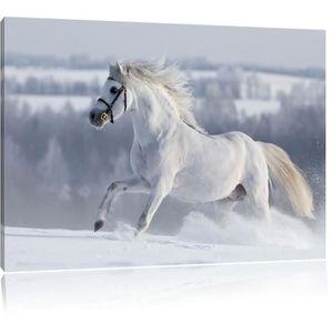 Tableau toile de chevaux blanc achat vente tableau toile de chevaux blanc pas cher cdiscount - Tableau de cheval ...