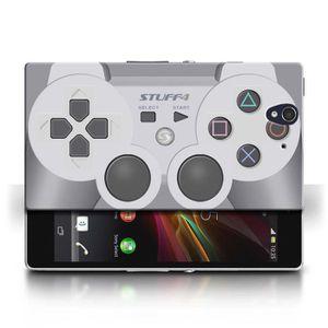 COQUE - BUMPER Coque Sony Xperia Z / Playstation PS1 Design / Con