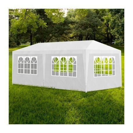 tonnelle pavillon de jardin blanc 3x6m achat vente tonnelle barnum tonnelle pavillon de. Black Bedroom Furniture Sets. Home Design Ideas
