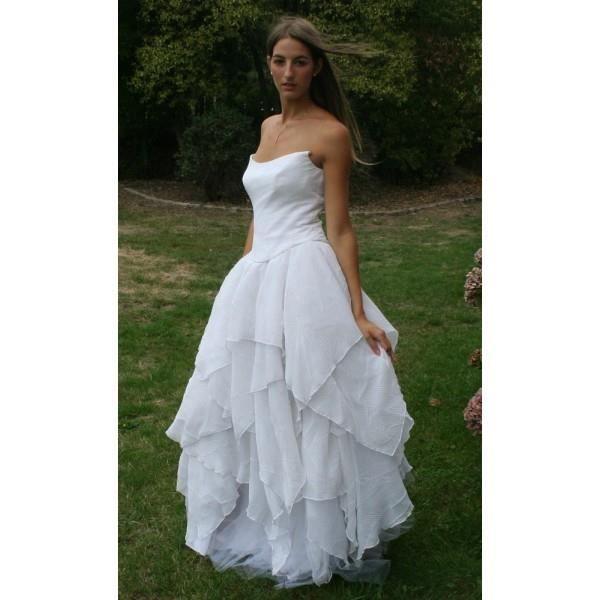 robe de mariée LE BO Paris 40 jupon + bustier Taille - 40, Couleur ...