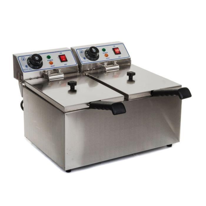 Friteuse professionnelle 2 bacs gaz РPo̻le cuisine inox