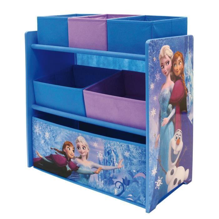 La reine des neiges meuble de rangement enfant jouets 6 for Meuble de rangement avec bac