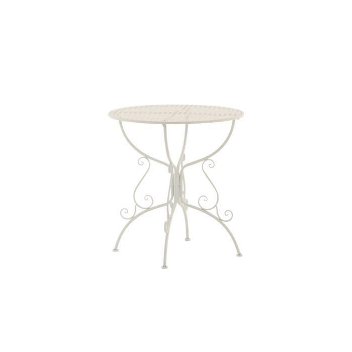 Clp table de jardin ronde en fer forg amanda faite la for Clp annex 6 table 3 1