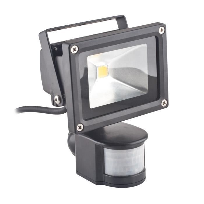 projecteur led 10 watts avec d tecteur de mouvements. Black Bedroom Furniture Sets. Home Design Ideas