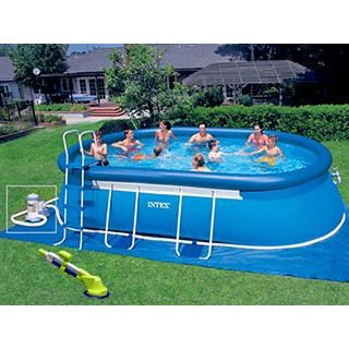 Piscine intex ellipse ovale x x achat for Piscine intex tubulaire ovale