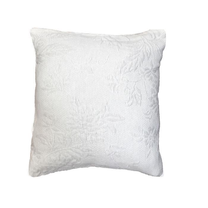 housse de coussin 60x60 piqu coton lindley blanc achat. Black Bedroom Furniture Sets. Home Design Ideas