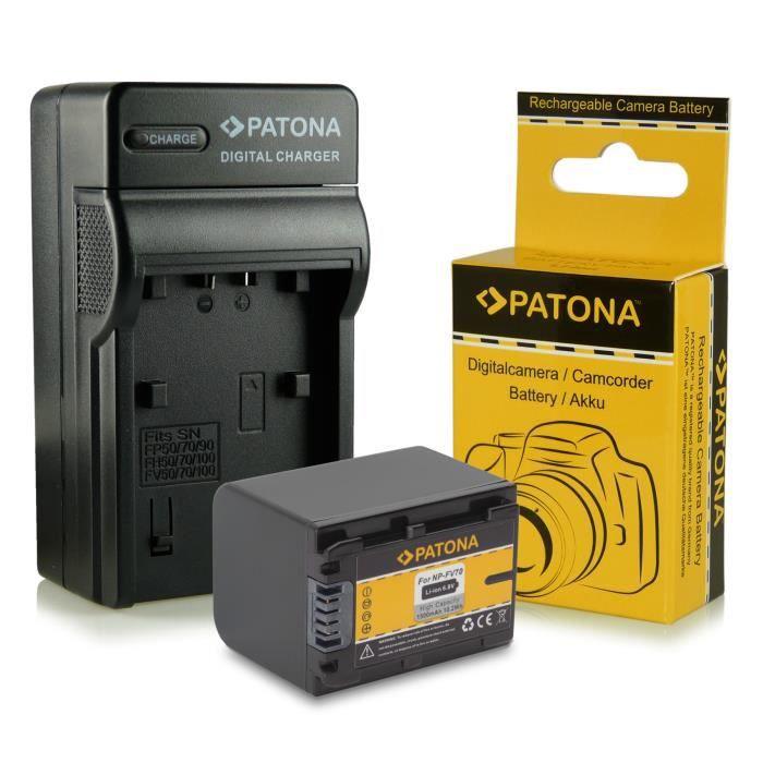 chargeur batterie np fv70 pour sony camcorder dcr. Black Bedroom Furniture Sets. Home Design Ideas