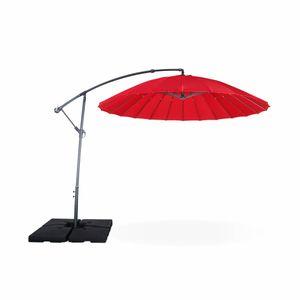 Toile pour parasol deporte rond achat vente toile pour - Parasol deporte rouge ...