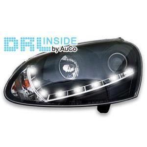 2 phares avec feux diurnes pour vw golf 5 xenon achat vente phares optiques 2 phares. Black Bedroom Furniture Sets. Home Design Ideas