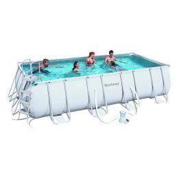 piscine cadre acier rectangulaire 488x274x122cm achat vente piscine piscine cadre acier. Black Bedroom Furniture Sets. Home Design Ideas