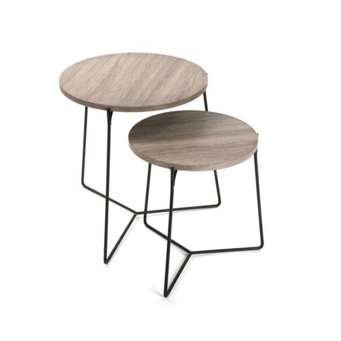 Tables basses gigognes en bois achat vente tables basses gigognes en bois pas cher les Set de table personnalise pas cher
