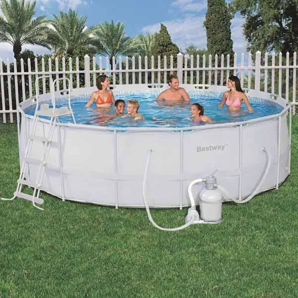 Piscine ronde tubulaire for Piscine tubulaire intex ronde pas cher