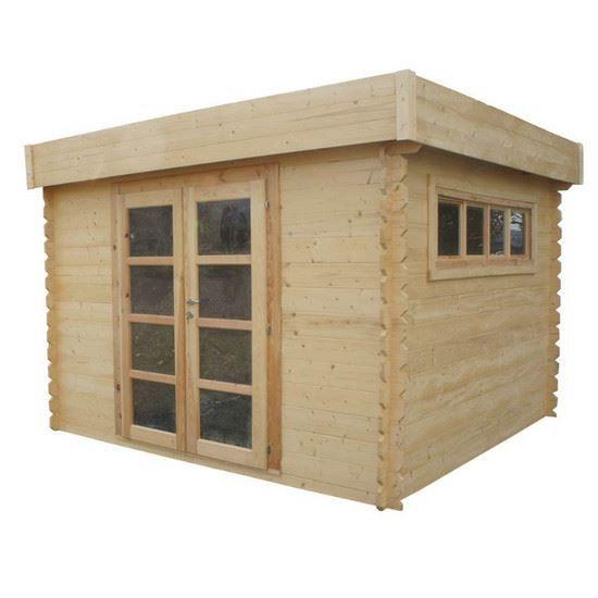 Abri de jardin toit plat 8 94 m soleil 3x3 achat vente abri jardin chalet abri de jardin - Toit bitume abri jardin ...