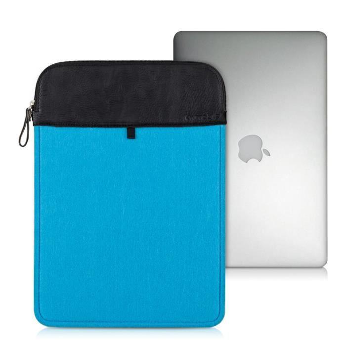 kwmobile 174 housse de protection pour apple macbook air 13 quot fait de durable sentir en bleu avec
