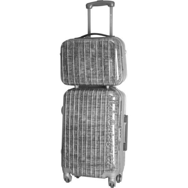 bagage lulu castagnette valise cabine vanity rigide argent achat vente set de valises. Black Bedroom Furniture Sets. Home Design Ideas