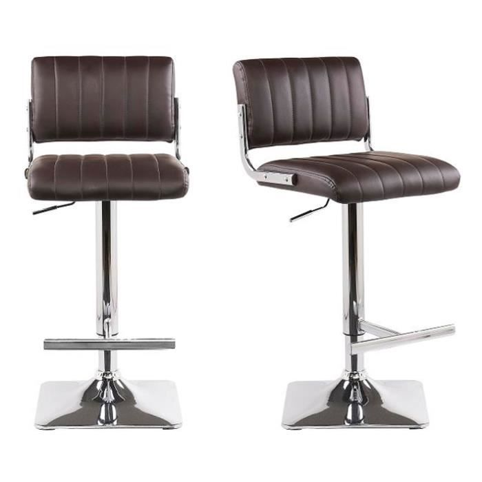 lot de 2 tabourets chaise de bar austin marron achat vente tabouret de bar marron cdiscount. Black Bedroom Furniture Sets. Home Design Ideas