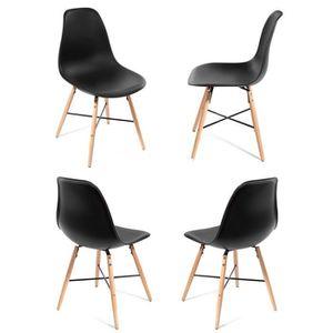 chaises de salle a manger lot de 4 confortable achat vente chaises de salle a manger lot de. Black Bedroom Furniture Sets. Home Design Ideas