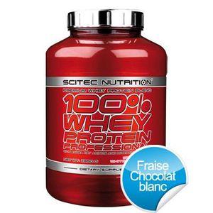 ACIDES AMINÉS 100% Whey Protein Professional (2.350Kg) Fraise-Cc