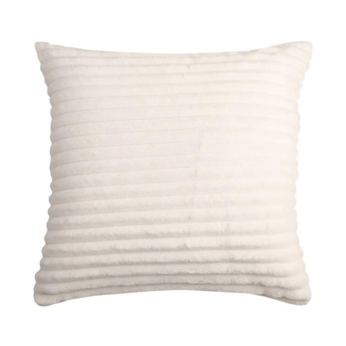 Housse de coussin blanc 40x40 achat vente housse de for Housse de coussin blanc