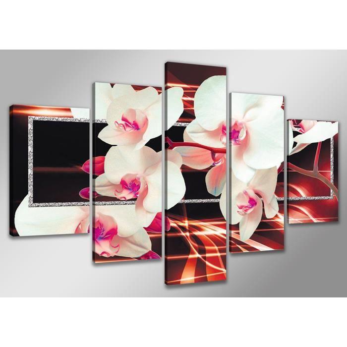 Tableau moderne imprim 160x80 cm orchide achat vente tableau toile t - Vente tableau moderne ...
